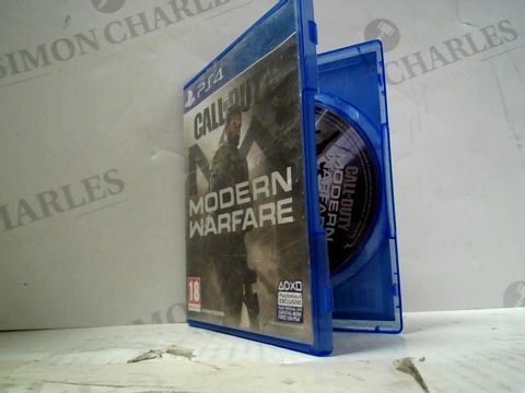 Lot 60 CALL OF DUTY: MODERN WARFARE PLAYSTATION 4 GAME