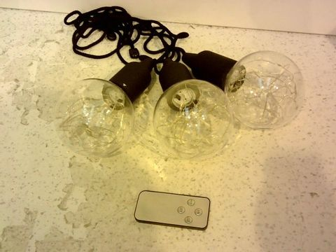 Lot 10019 INDOOR/OUTDOOR SET OF 3 PULL CORD LIGHTS BULBS WITH COLOUR CHANGE FUNCTION