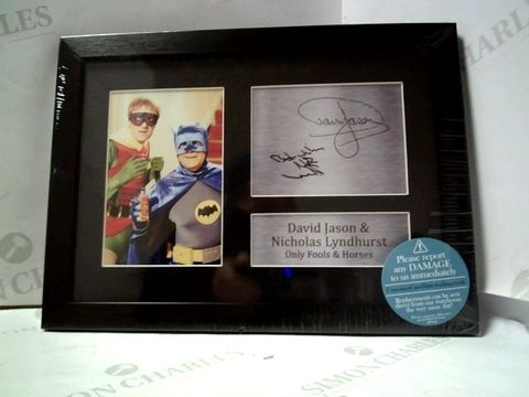 Lot 6 FRAMED ONLY FOOLS & HORSES PRINT AND PRINTED AUTOGRAPHS