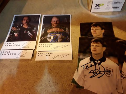 Lot 28 COLLECTION OF SPORTING PICTURES, 10 × TEDDY SHERINGHAM & 2 × EACH HAMILTON & BOTTAS