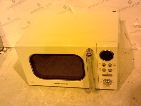 Lot 12401 MORPHY RICHARDS ACCENTS 20L 800W MICROWAVE CREAM