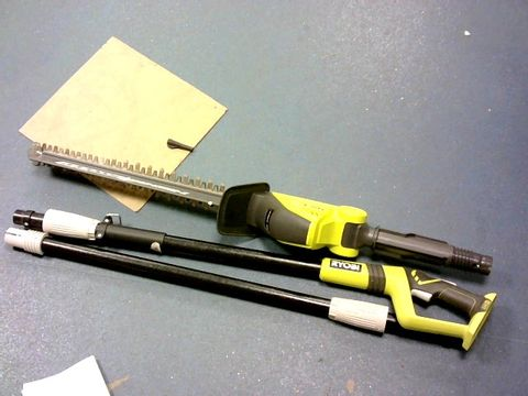 Lot 294 RYOBI ONE+ 18V OPT1845 CORDLESS POLE HEDGE TRIMMER