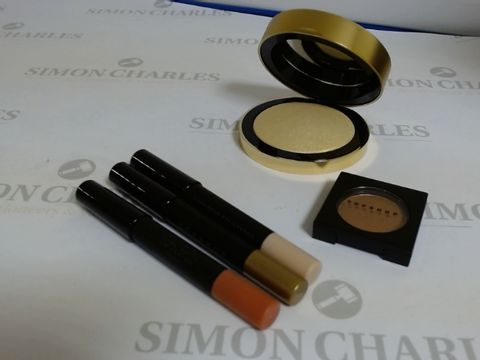 Lot 9440 BOX OF APPROXIMATELY 85 ASSORTED BRAND NEW MAKE UP ITEMS TO INCLUDE SUNBEAM POWDER HIGHLIGHTER, MORPH EYE SHADOW, DING DONG EYE CRAYON, ETC