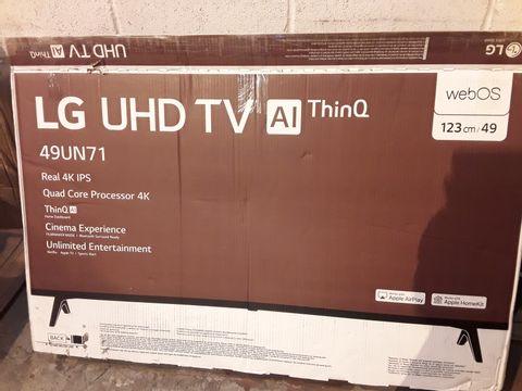 Lot 268 LG 49UN71006LB 49 INCH UHD 4K HDR SMART LED TV