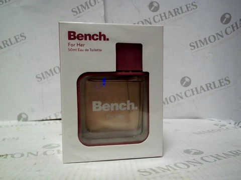 Lot 8078 BRAND NEW AND SEALED BENCH FOR HER EDT 50ML
