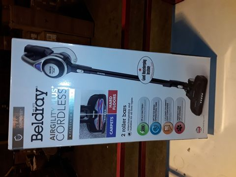 Lot 3174 BELDRAY AIRGILITY + CORDLESS VACUUM CLEANER