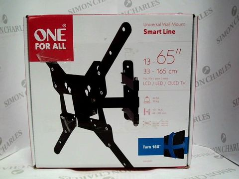 Lot 7439 ONE FOR ALL SMART LINE UNIVERSAL WALL MOUNT FOR TVS 13-65 INCH