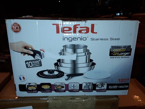 Lot 8285 TEFAL INGENIO STAINLESS STEEL COOKWARE SET