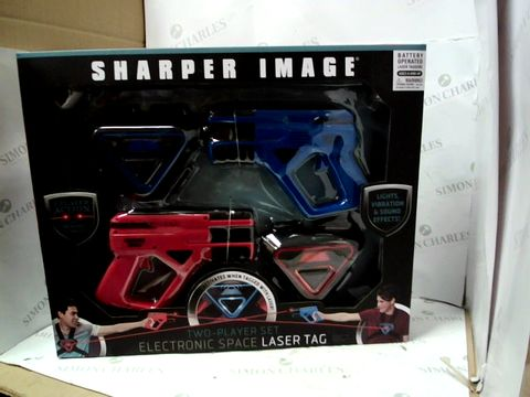 Lot 10302 SHARPER IMAGE ELECTRONIC SPACE LASER TAG TWO-PLAYER SET
