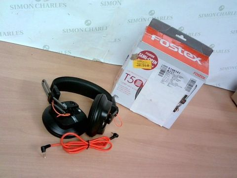 Lot 3348 FOSTEX T50RPMK3 PROFESSIONAL SEMI-OPEN HEADPHONE