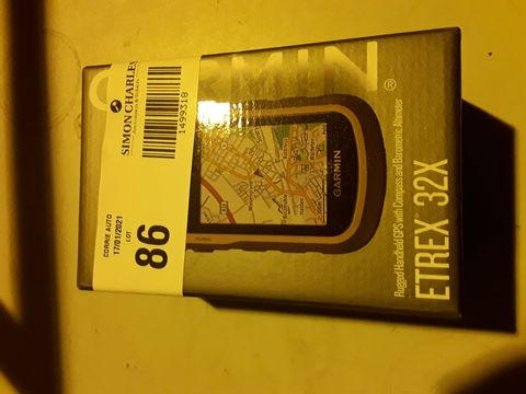 Lot 86 GARMIN ETREX 32X HANDHELD GPS SYSTEM