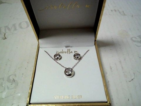 Lot 154 DESIGNER SILVER TONE NECKLACE AND EARRING SET