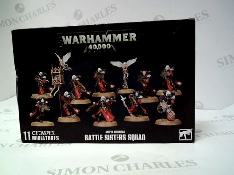 Lot 159 WARHAMMER - BATTLE SISTERS SQUAD