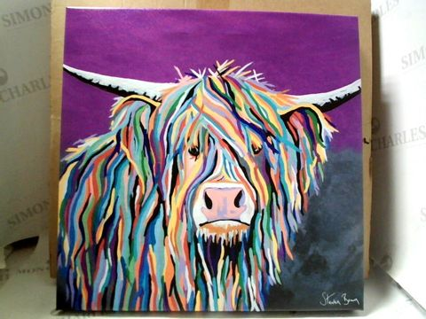 Lot 26 BOXED STEVEN BROWN 16x16 CANVAS - ANGUS MCCOO