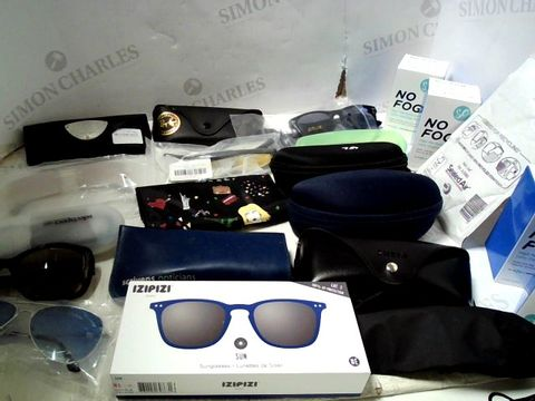 Lot 164 LOT OF APPROXIMATELY 32 ASSORTED EYEWEAR ITEMS TO INCLUDE; SPECTACLES, SUNGLASSES ETC