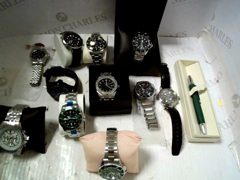 Lot 596 LOT OF APPROXIMATELY 11 ASSORTED  DESIGNER WRISTWATCHES