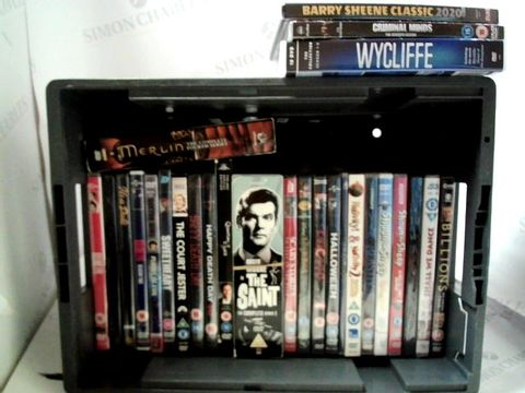 Lot 8130 LOT OF APPROXIMATELY 25 ASSORTED DVD'S TO INCLUDE; KILLING EVE, THE SAINT, MERLIN ETC