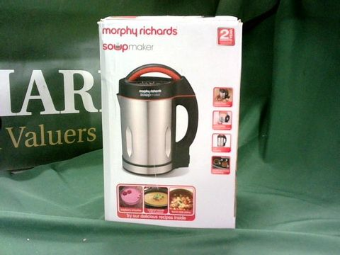 Lot 4019 MORPHY RICHARDS 48822 SOUP MAKER, STAINLESS STEEL 1000W, 1.6L