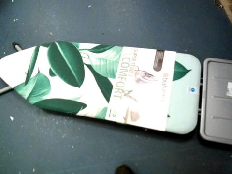 Lot 7597 BRABANTIA 118487 TROPICAL LEAVES IRONING BOARD WITH SOLID STEAM UNIT HOLDER