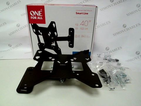 Lot 9 ONE FOR ALL SMART LINE UNIVERSAL WALL MOUNT FOR TVS 13-40 INCH