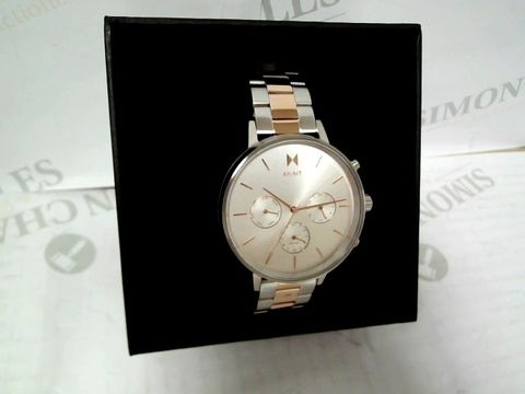 Lot 9059 MVMT NOVA WHITE AND ROSE GOLD DETAIL WRISTWATCH  RRP £179.00