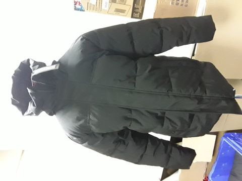 Lot 2043 DESIGNER M& S BLACK QUILTED HOODED STORMWARE COAT SIZE M RRP £79.00