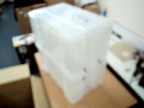 Lot 11500 SET OF THREE STORAGE BOXES (NO LIDS)