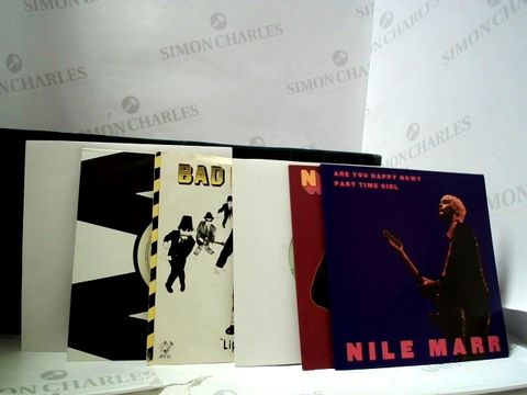 """Lot 8295 LOT OF APPROXIMATELY 60 7"""" SINGLES TO INCLUDE; NILE MARR, BAD MANNERS, MICHAEL JACKSON ETC"""