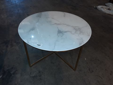Lot 10299 TEMPERED GLASS ROUND COFFEE TABLE