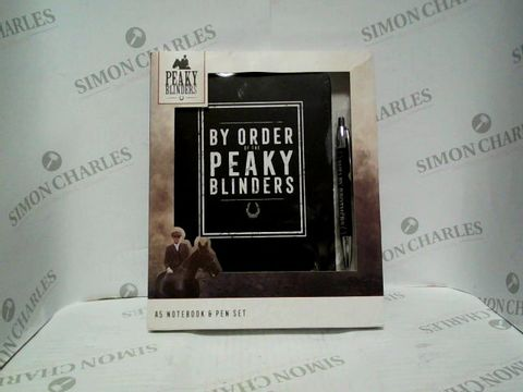 Lot 7303 PEAKY BLINDERS A5 NOTEBOOK AND PEN SET - BRAND NEW SEALED