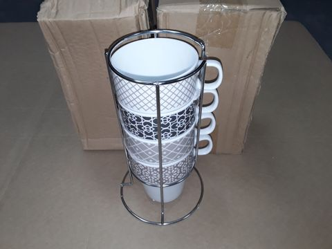 Lot 3066 LOT OF 3 4-CUP MUG STANDS