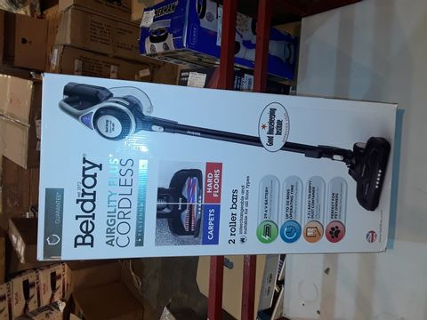 Lot 1182 BELDRAY AIRGILITY + CORDLESS VACUUM CLEANER