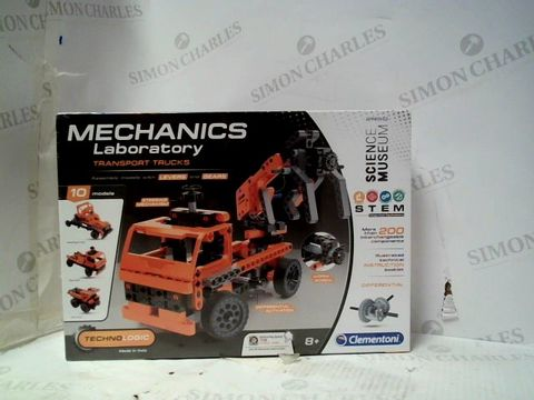 Lot 116 CLEMENTONI MECHANICS LABORATORY TRANSPORT TRUCKS BUILD SET