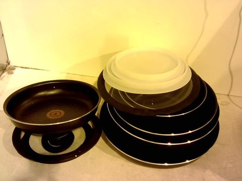 Lot 12034 TEFAL PAN SET NO HANDLES