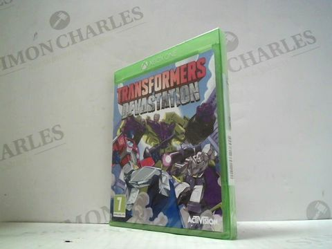 Lot 3037 TRANSFORMERS DEVASTATION XBOX ONE GAME