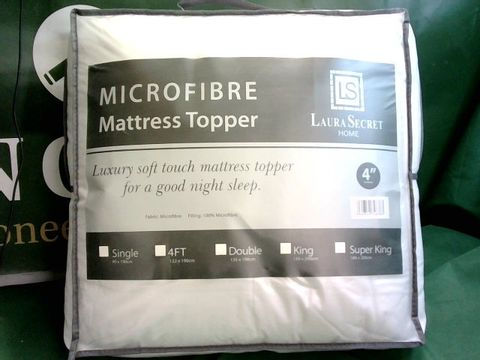 Lot 1003 LAURA SECRET MICROFIBRE MATTRESS TOPPER - DOUBLE