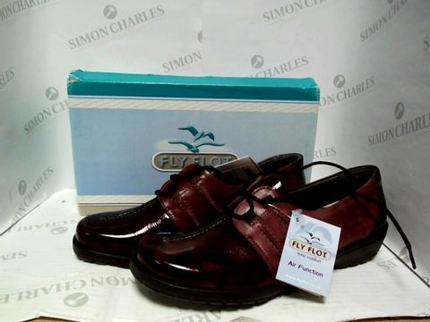 Lot 1031 FLY FLOT  CALFLY 1204 - BURGUNDY SHOES - SIZE 7