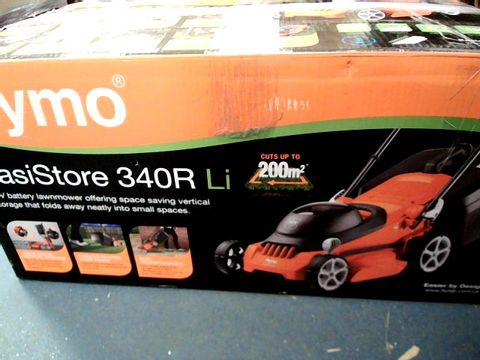 Lot 218 FLYMO EASISTORE 340R LI CORDLESS ROTARY LAWN MOWER