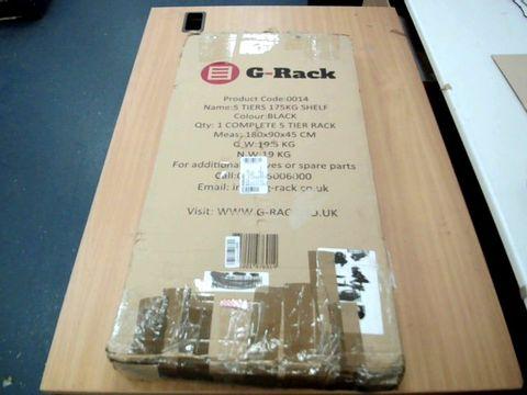Lot 11504 G-RACK GARAGE SHELVING UNIT