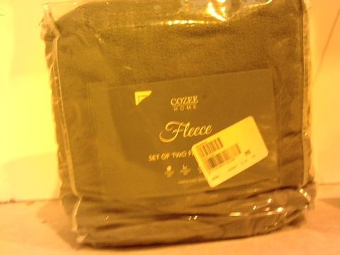 Lot 16205 COZEE HOME FLEECE SET OF FITTED SHEETS - GREY DOUBLE