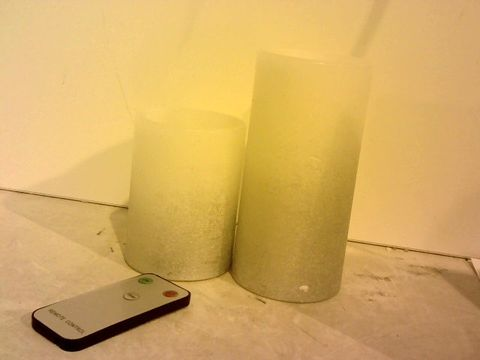 Lot 1538 HOME REFLECTIONS SET OF 2 FLAMELESS OMBRE CANDLES