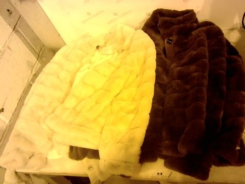 Lot 2252 LARGE BOX OF ASSORTED CLOTHING ITEMS TO INCLUDE: FOUR RINE PELLE JACKETS ETC