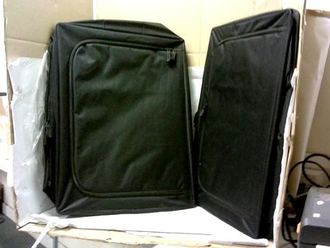 Lot 10419 PERIEA SET OF 2 LARGE COLLAPSIBLE STORAGE BOXES - BLACK