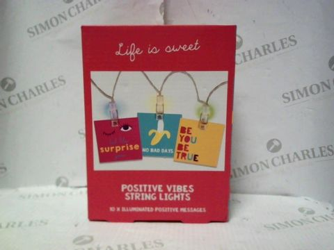 Lot 4442 LIFE IS SWEET STRING LIGHTS