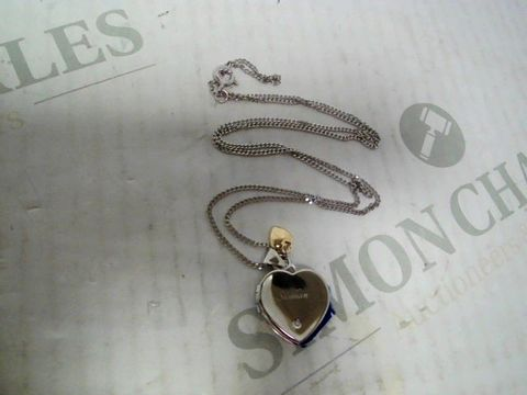 """Lot 4345 PERSONALISED """"SIOBHAN"""" STERLING SILVER HEART NECKLACE RRP £89.00"""
