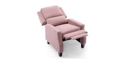 Lot 563 BOXED DESIGNER PINK FABRIC PUSHBACK  RECLINING EASY CHAIR