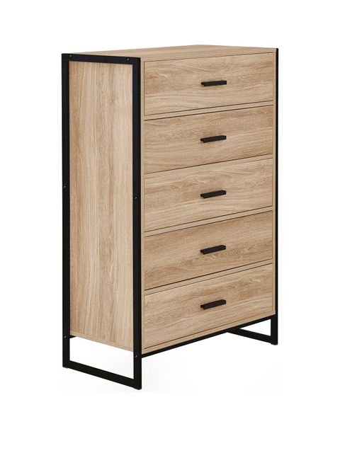 Lot 648 TELFORD 5 DRAWER CHEST RRP £75.00