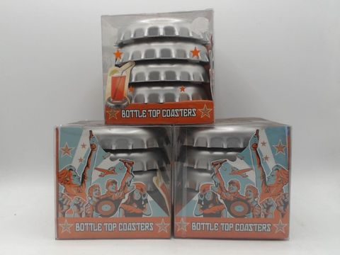Lot 4024 3 SETS OF 4 BOTTLE TOP COASTERS