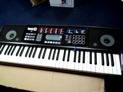 Lot 812 ROCKJAM RJ761-SK KEY ELECTRONIC INTERACTIVE TEACHING PIANO KEYBOARD