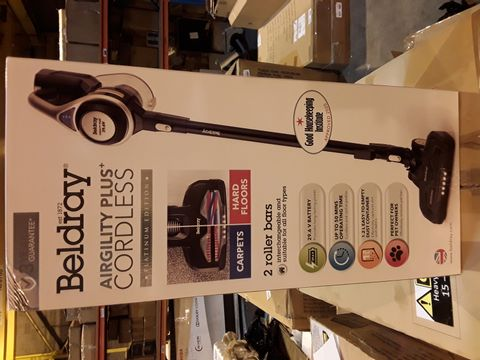 Lot 1055 BELDRAY AIRGILITY + CORDLESS VACUUM CLEANER
